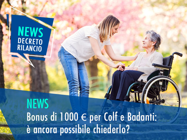 BONUS DI 1000 € PER COLF E BADANTI: È ANCORA POSSIBILE ...